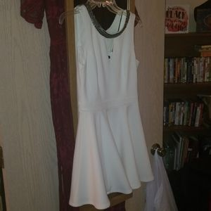 White cocktail/homecoming dress